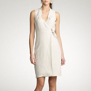 J.Crew | Oatmeal Tailored Linen Patrice Dress